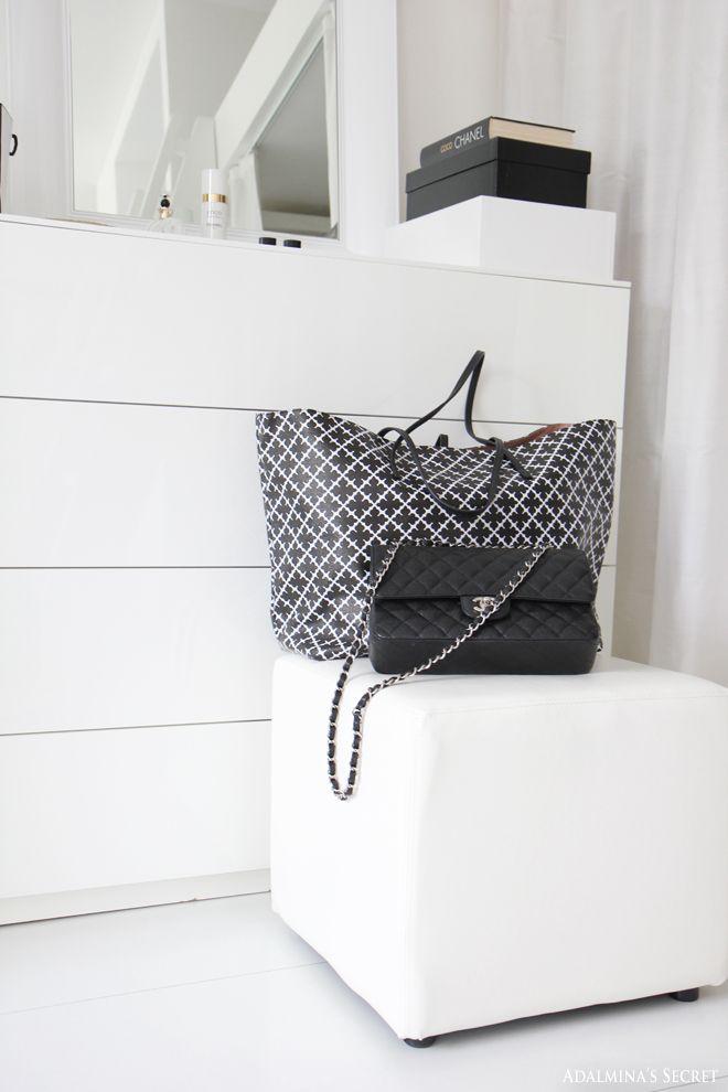 Walk in closet, Chanel and by Malene Birger bags - Adalmina's Secret