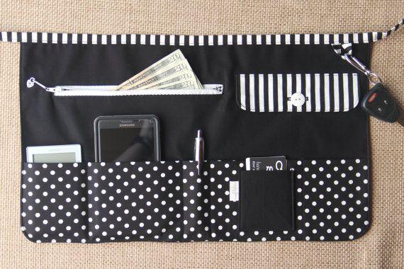 Vendor Apron Utility Apron Teacher Apron  Black with White