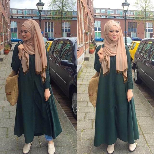 .... Jersey hijab with abaya