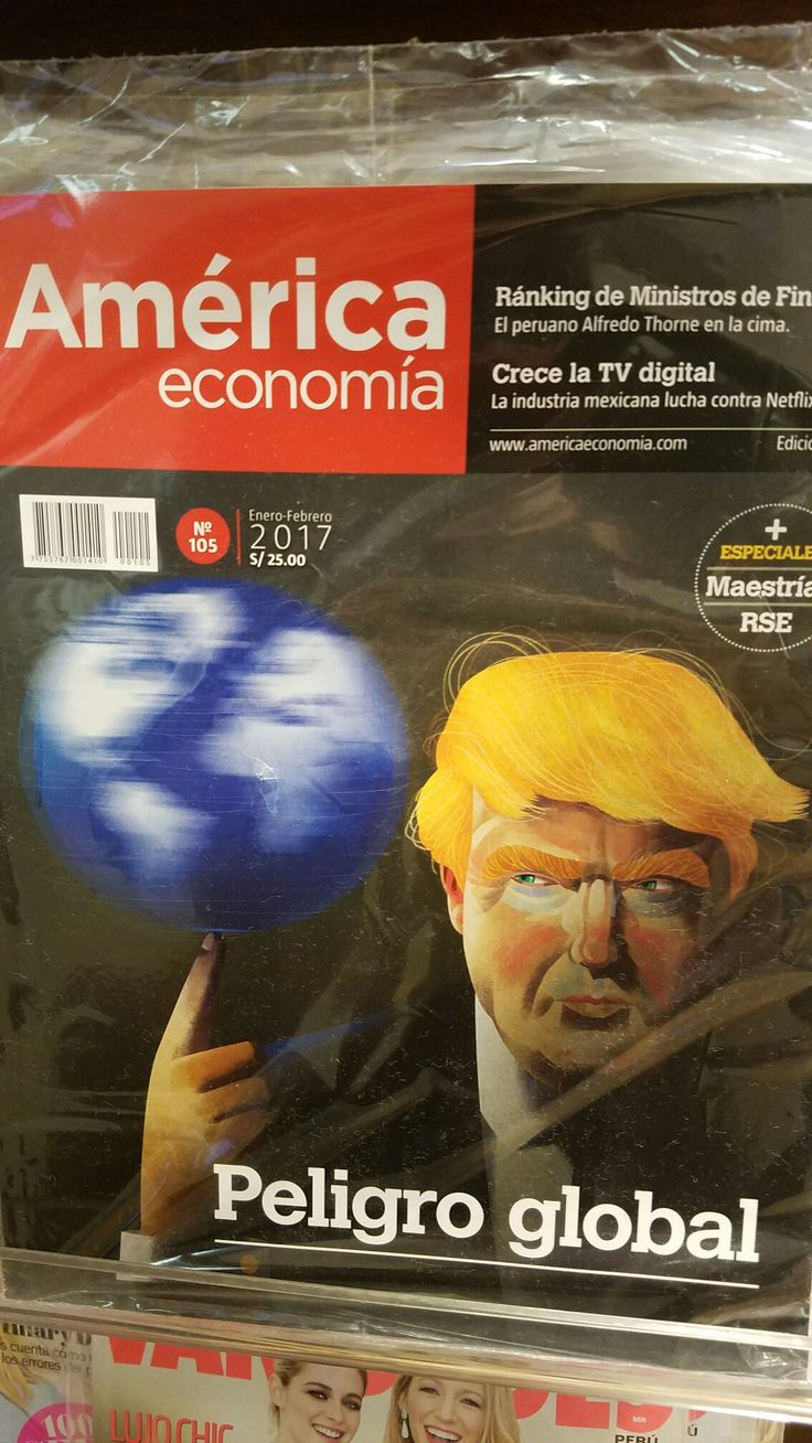 Only a month into President Vile Things reign of terror...Peruvian periodicals call it out in 2 simplistic words....Global Danger....