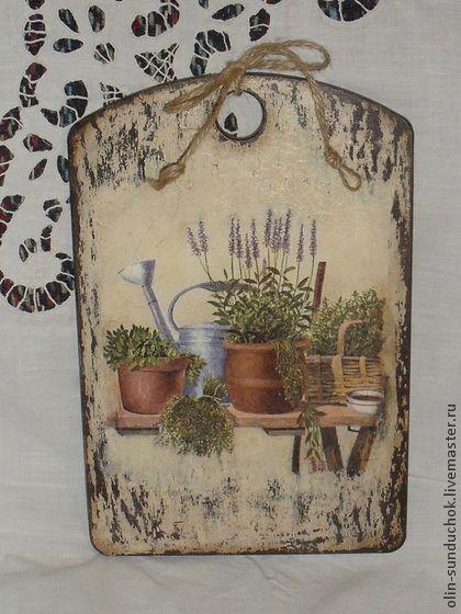 Кухня ручной работы. Ярмарка Мастеров - ручная работа Доска Травы Прованса. Handmade.