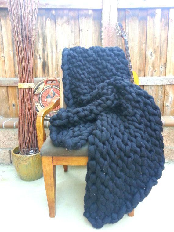 Gigantic Knit Blanket by IAMgiganticknit on Etsy