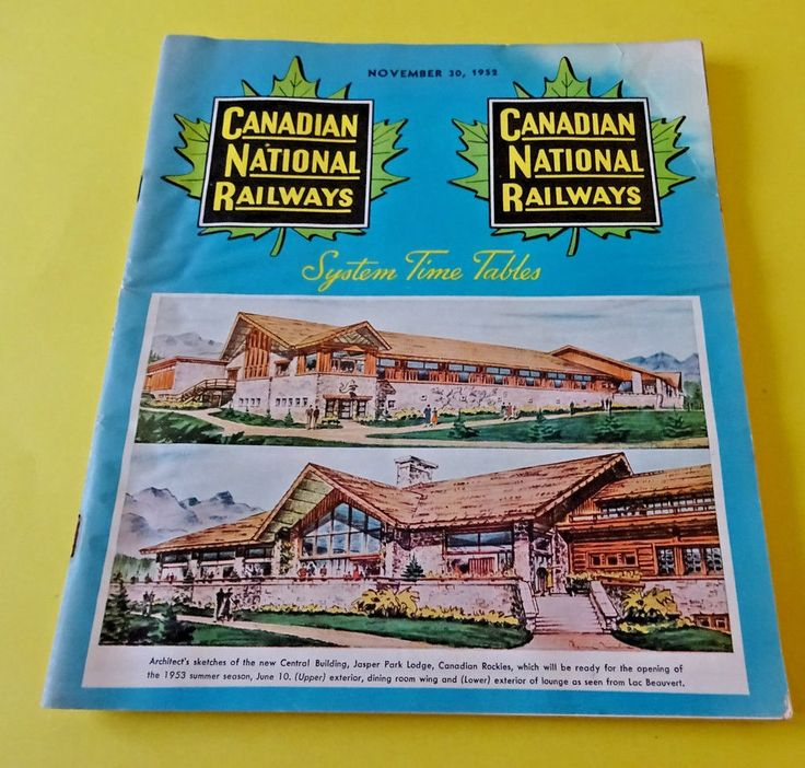 CNR, Canadian National Railways November 30, 1952 System Time Tables 84 pages