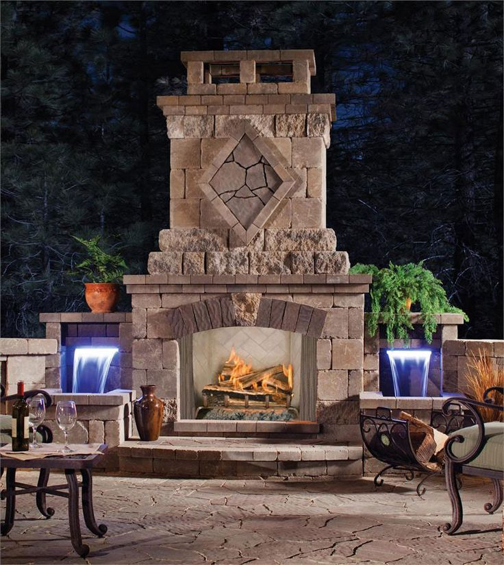 17 Best Outdoor Fireplaces Images On Pinterest