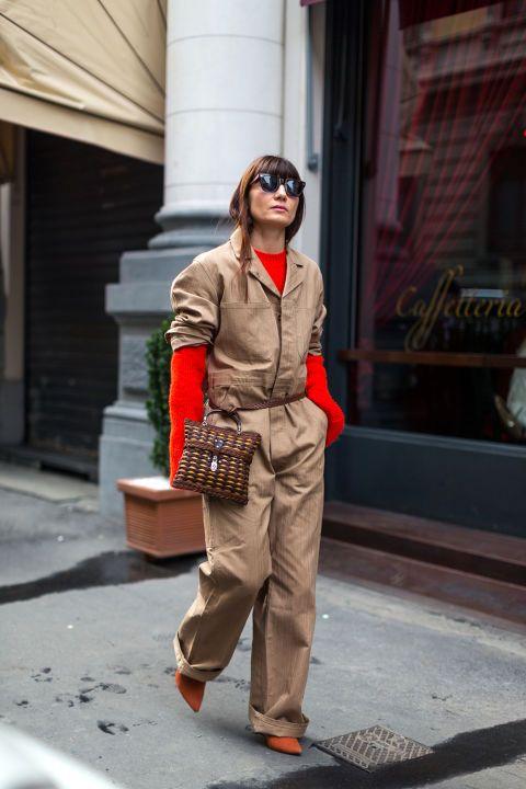 Уличная мода с улиц Милана во время недели моды осень/зима 2017