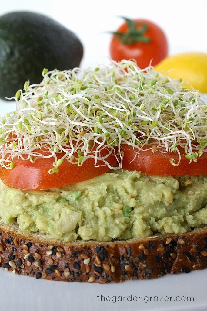 Chickpea Avocado Mas 15 oz. can chickpeas 1 ripe avocado Juice from 1/2 lemon Salt/pepper to taste Optional toppings/add-ins: sprouts, tomato, spinach, green onion, etc.  Directions Rinse and drain chickpeas and place in a bowl. Mash with a potato masher or fork. Cut avocado in half and remove pit. Scoop out the avocado and place in bowl. Mash again to combine with the chickpeas. Add lemon juice and stir. Salt/pepper to taste if desired.