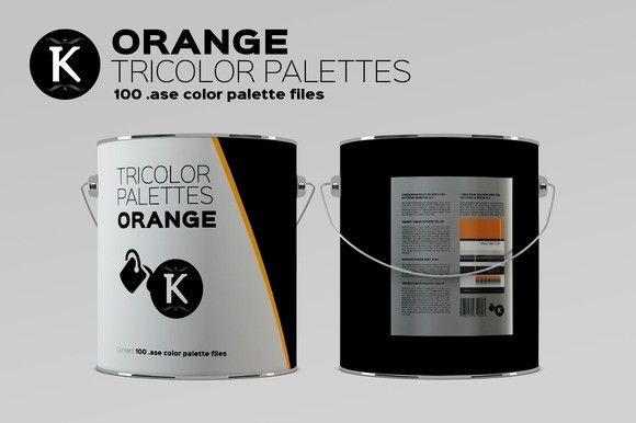 Orange Tricolor Palettes. Palettes. $5.00