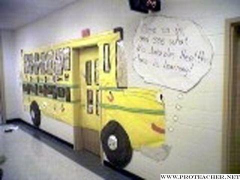 Back to School bulletin board: Ms. Jonizzle's Magic School Bus for Health Bulletin Board