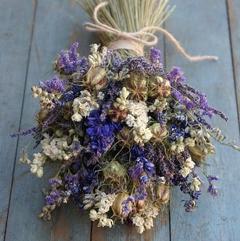 Provence Dried Flower Wedding Bouquet
