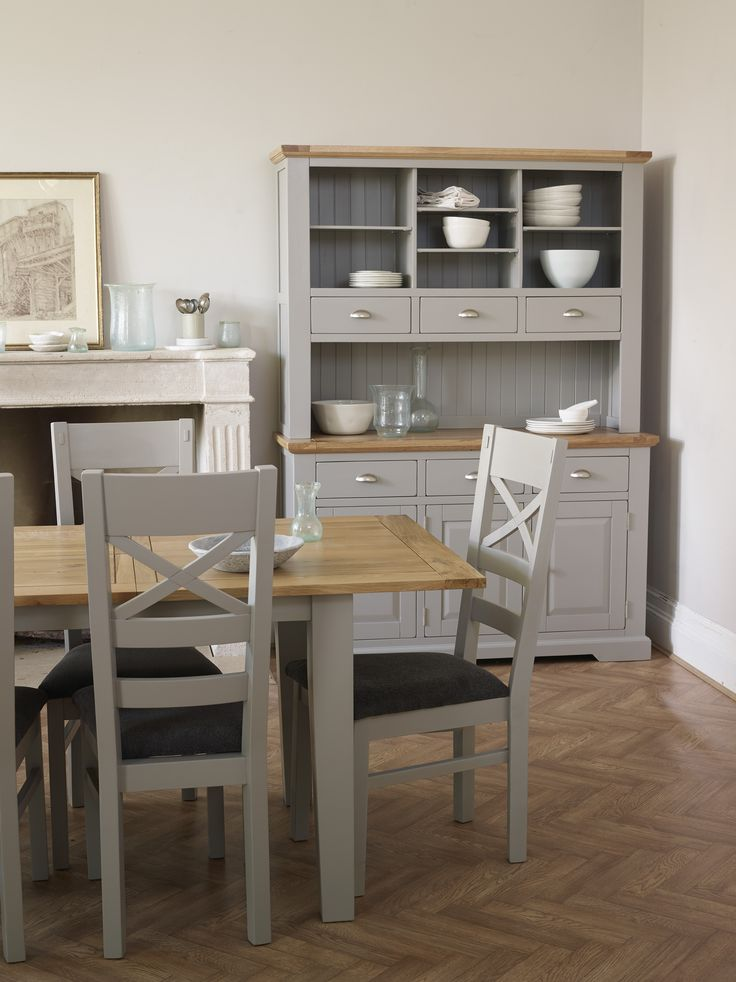 Make an impression with the St Ives large dresser. With its light grey paint finish, the dresser is chic and modern. The solid oak painted dresser is impressive enough to work on its own as the hub of the kitchen or dining room, or you could decide to match it with other pieces in the range in the dining room or home office.