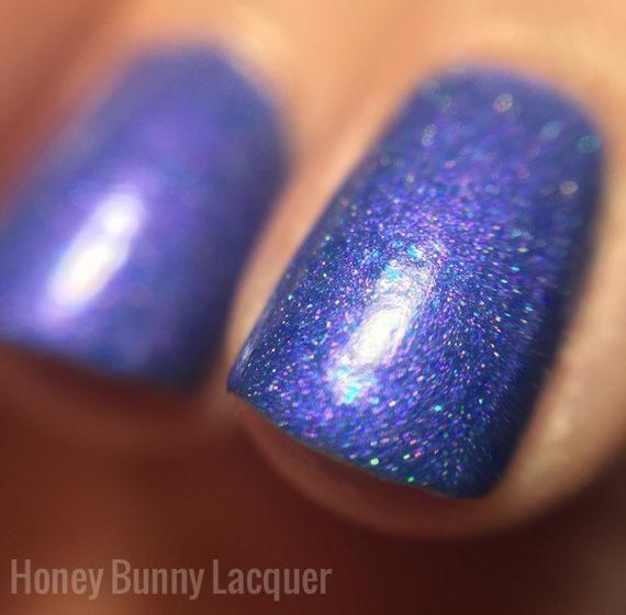 Night Surf – matte nail polish – matte blue – 5 free – handmade – indie nail po…