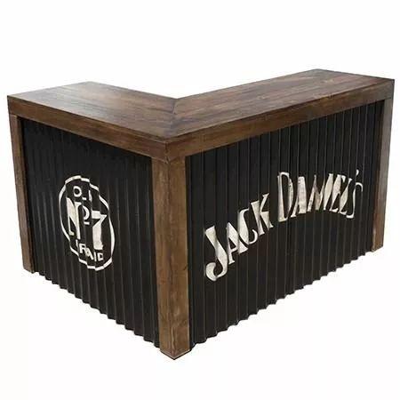 barra bar arrime 100x49x100cm madera reciclada mostrador b03