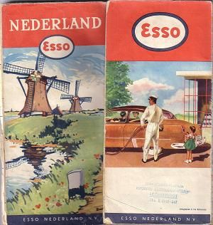 Esso map Netherlands 1951