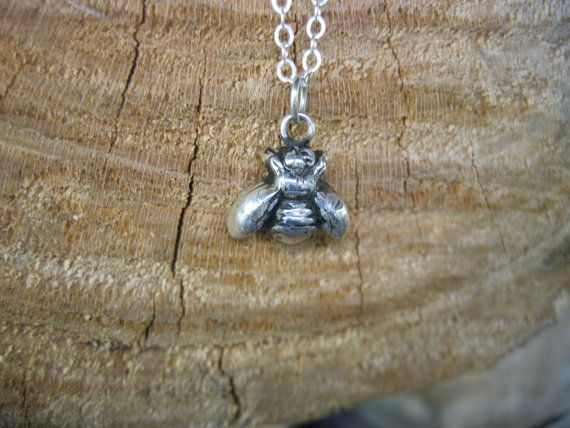 Happy Bee Metal Clay Necklace by crobinsondesign on Etsy