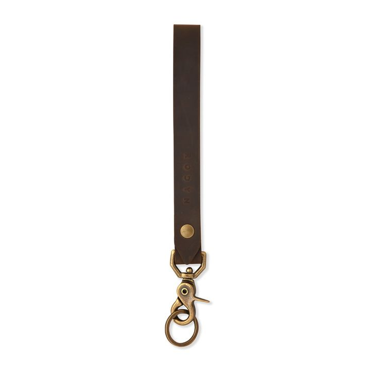 The Vega Key Clip - brown #leather #keychain