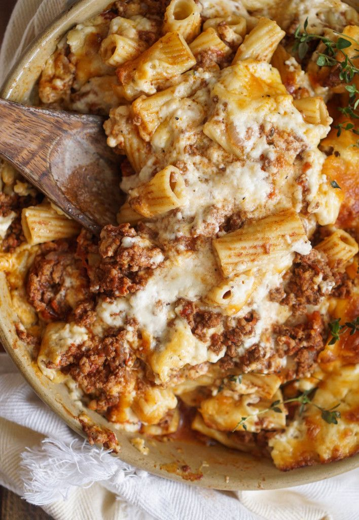 """Pastitsio, it's what I like to callstick to your ribs-kinda-food.Or as Scott calls it, """"take a bite then do ten push-ups…then repeat 20 times."""" If you're unfamiliar with this Greek dish, you're in for a treat. Traditionally Pastitsio isa pasta dish layered with meat, tomato sauce, pasta, and a creamy bechamel. It's baked together to..."""
