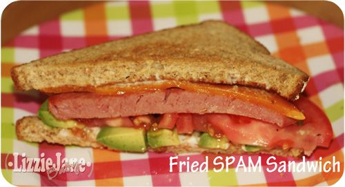 Tasty Tuesday - SPAM A RAMA - Fried Spam Sandwich - Liz on Call