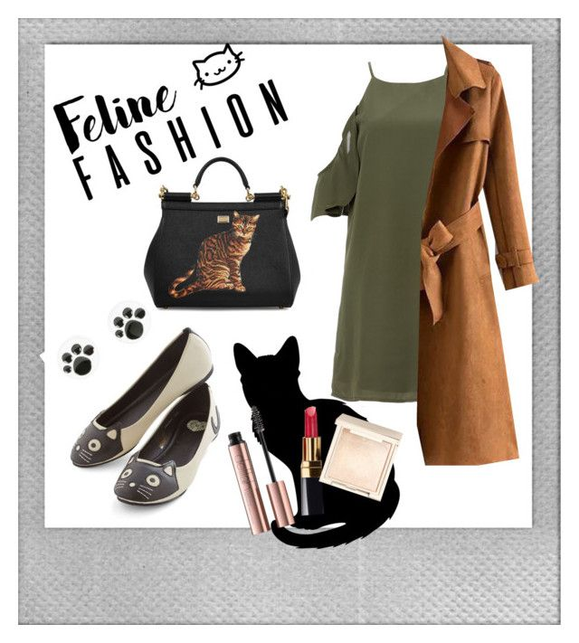 Cat's Look by tanya-dayal on Polyvore featuring polyvore fashion style DailyLook Dolce&Gabbana Jouer Chanel Polaroid clothing