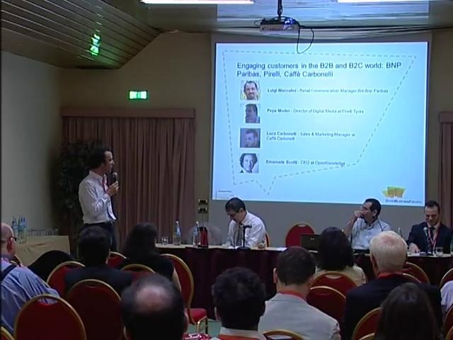 Engaging customers in the B2B and B2C world: Bnp Paribas, Pirelli, Caffè Carbonelli. @ social business forum 2012