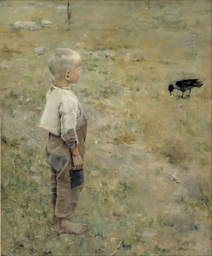 Akseli Gallen-Kallela, Boy with a Crow (1884), oil on canvas, 86 x 72 cm, Ateneum, Helsinki