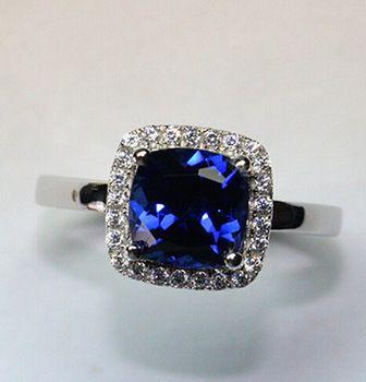 Драгоценное кольцо 100% серебряные ювелирные изделия прекрасные женские модели супер вспышка кольцо с сапфиром серебро 925 кольцо Высокое качество