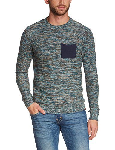 Blend Men's Crew Neck Long Sleeve Jumper - Blue - Blau (navy 70230) -