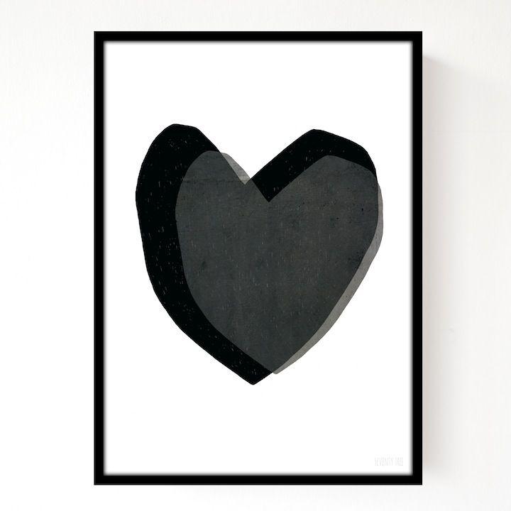 A3 Layered Hearts