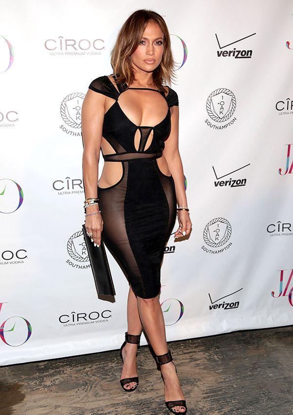 jennifer lopez black outfits | FOTOS: Los 15 vestidos más atrevidos de Jennifer Lopez ...