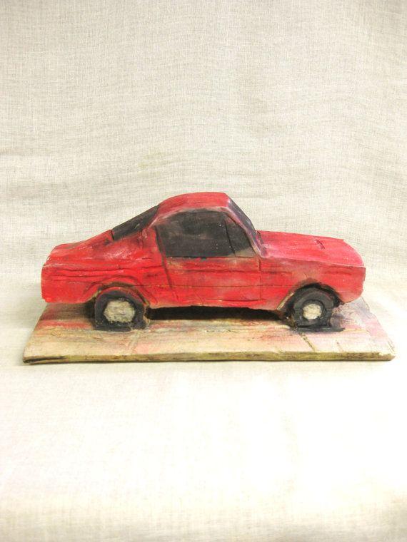 Folk Art Car , Wood Carving , Chain Saw Art , Muscle Car , Handmade , Carvings…
