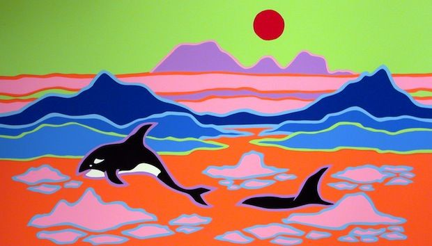 Orcas ~   by Ted Harrison
