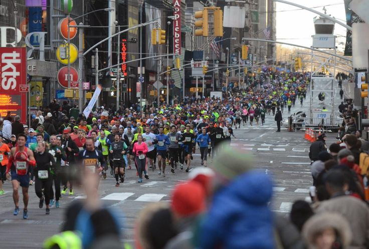 More than 20,000 people hit the pavement to take part in the New York City Half Marathon on March 16, 2014.