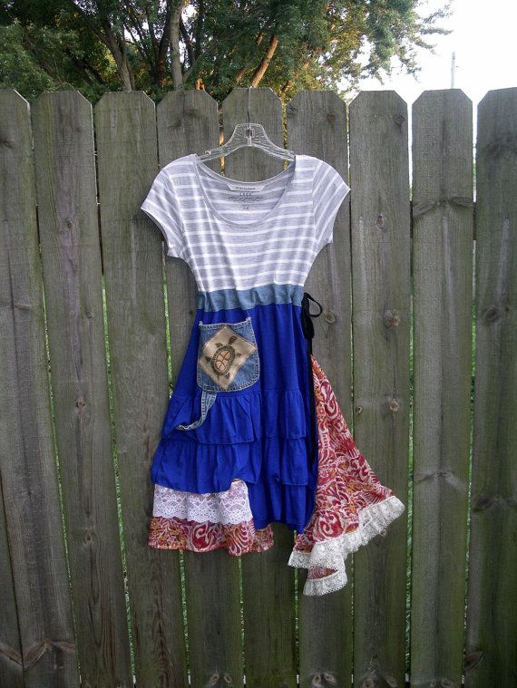 Upcycled Clothing/ Urban Chic Dress/ Eco by TimelessWhispers, $85.00