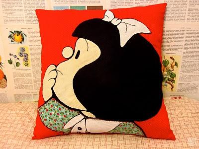 Amora's Crafts and Ideas (Keren Moura): Almofalda da Mafalda, achei sensacional!