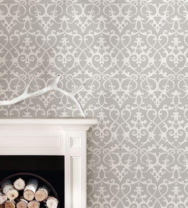 Ironwork Grey Peel And Stick Wallpaper Bathroom Wallpaper Trends Peel And Stick Wallpaper Nuwallpaper