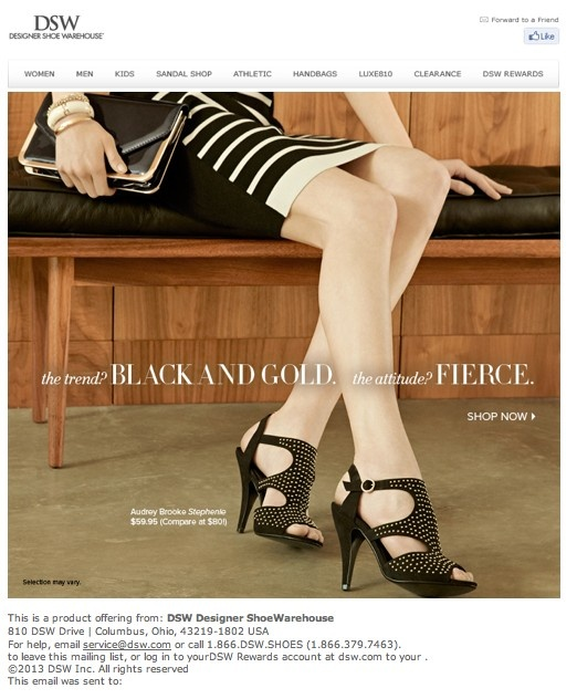 too! DSW shoe warehouse e-blast #emailmarketing #emailnewsletter