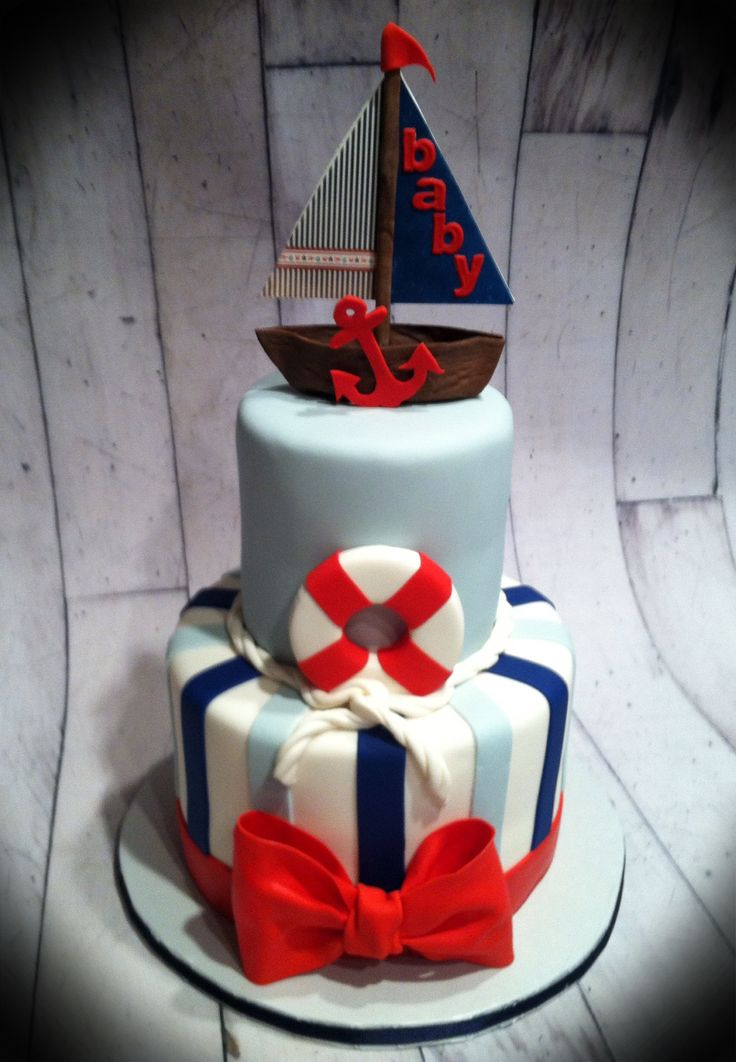 nautical baby shower cakes on pinterest nautical theme baby shower