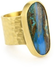 "Heather Benjamin ""Sea"" Peruvian Opal Ring"