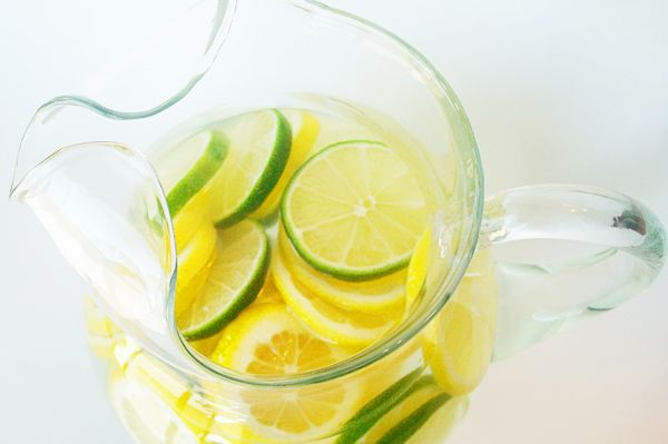 Citrus Water Punch- combine water, citric acid, sugar, pure lemon extract with sliced lemons, limes and crushed ice. (Take out fruit slices if storing overnight.)