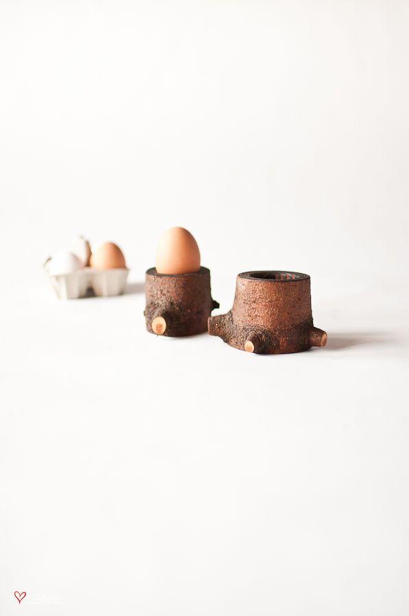 "Podstawki pod jajka ""pieńki"" - 2 szt - i love nature"