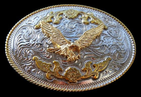 American Bald Flying Eagle Gold and Silver Plated Belt Buckle Boucle de Ceinture #eagle #eagles #eaglebuckle #eaglebeltbuckle #flyingeagle #baldeagle #americaneagle #beltbuckles #coolbuckles #buckle