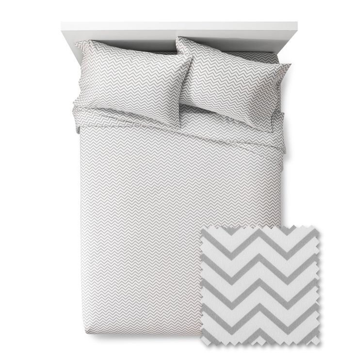 Chevron Sheet Set - Pillowfort, Gray Marble