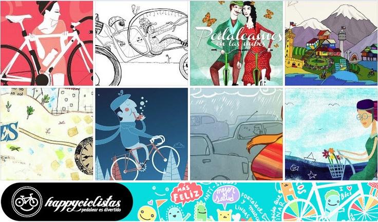 Fuimos compartiendo el trabajo de jóvenes y excelentes ilustradores a través de nuestras plataformas. Al revisar nuevamente sus creaciones se puede apreciar una serie de atractivos individuos que disfrutan de la bicicleta dando cuenta de estilos e identidades diversas.