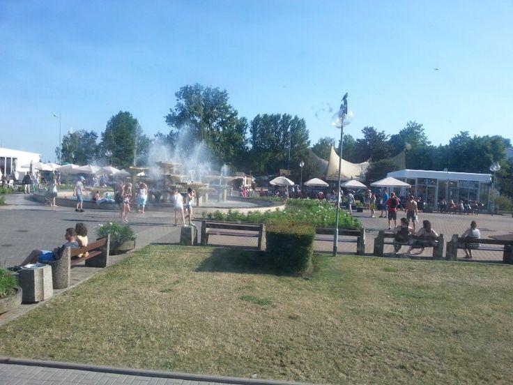 Park and sailing club at Sopot.