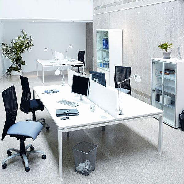 Modern Desk And Chairs Office Furniture. Via Commercial Office Furniture.