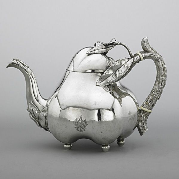 OH MY... Isn't this gorgeous... Russian Silver Fruit Teapot, 1894. Joseph Nordberg.
