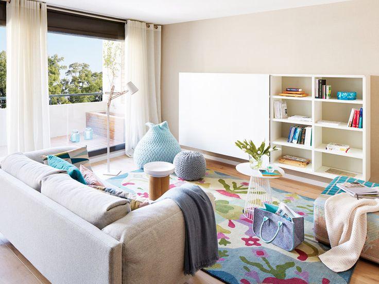 Un piso elegante con toques azules