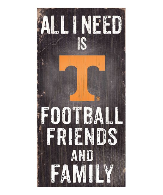 Tennessee Volunteers 'Football Friends and Family' Wall Sign
