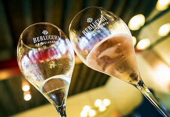 A toast to life! Berlucchi Franciacorta wine glasses. #BerlucchiMood