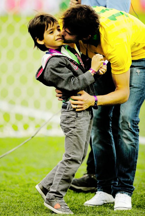 The World cup Ricardo Kaka with son before the game