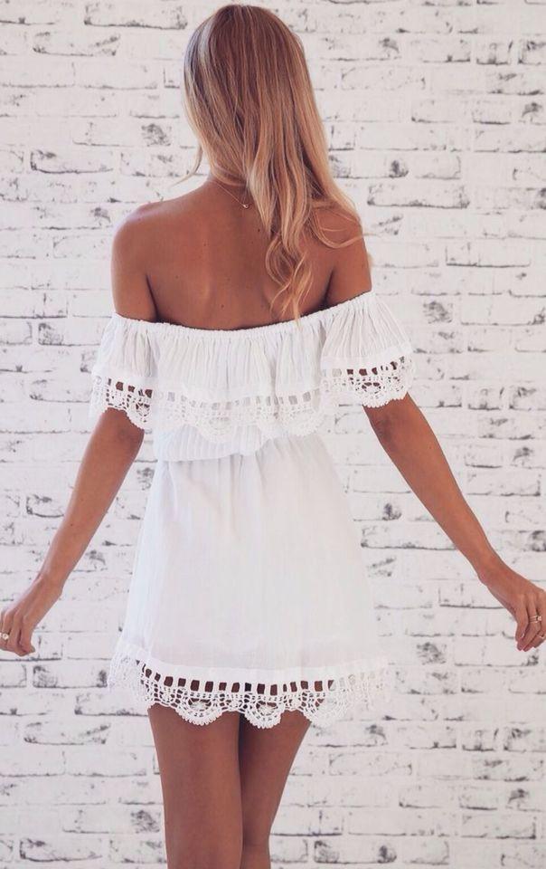 468a8f168d2b little white off the shoulder dress